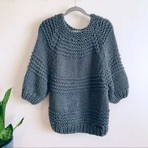 Wishlist chunky knit handmade sweater Sz M/L